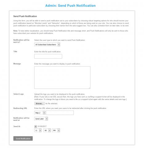 Admin: Send Custom Push Notification