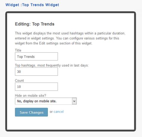Widget :Top Trends Widget